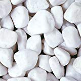 RockinNatur - Piedra Decorativa para jardn (20 a 40 mm, 15 kg), Color Blanco
