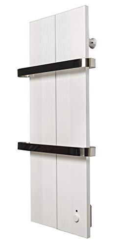 Finesa Badheizkörper-Handtuchwärmer-Elektrischer,Wärmeabgabe 400-750 W,Termostat,Handtuchtrockner,Handtuchhalter (800x404, Weiß)***** 5 Jahre GARANTIE *****