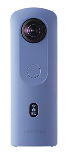 Ricoh THETA SC2 BLUE 360°Fotocamera 4K Video con stabilizzazione dell'immagine Alta qualità di trasferimento dati ad alta velocità Bella visione notturna ripresa con basso rumore, Blu