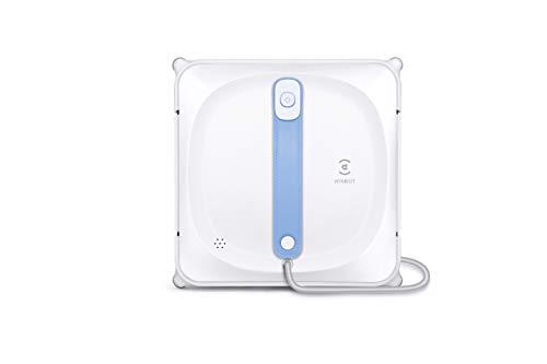 ECOVACS WINBOT 920 Robot Nettoyeur de fenêtre Intelligent avec système de sécurité, contrôle par Smartphone Via l'application et Sac de Rangement Portable pour Lave-vitres, Blanc