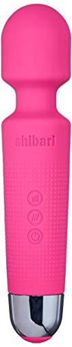 Shibari Mini Halo,'The Original' Compact Power Wand Massager, Wireless, 20x Multi-Speed Vibrations (Pink)