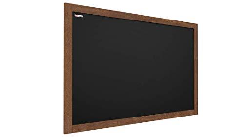 ALLboards Lavagna Nera da Gesso con Cornice in Legno 120x90cm, Scrivibile con Gessetti e Pennarelli a Gesso, Per Bar, Ristoranti, Menu
