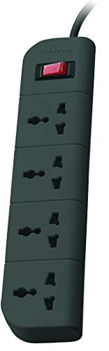 Belkin Essential Series 4-Socket Surge Protector Universal Socket with 5ft Heavy Duty Cable (Grey)