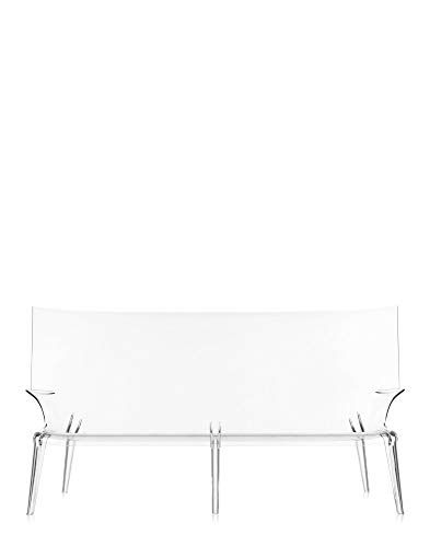 Kartell Uncle Jack Divano, Policarbonato, Bianco(Cristallo), 75 x 96 x 190 cm