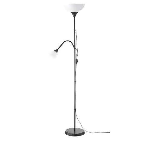 Ikea NOT Deckenfluter/Leseleuchte in schwarz, Kunststoff, 230 W, weiß