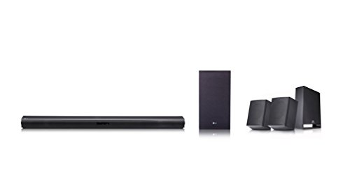 LG SJ4R - Barra de sonido (Potencia 420W 4.1, Hi-res Audio 96KHz/24Bit, Subwoofer inalámbrico, Altavoces traseros) Negro