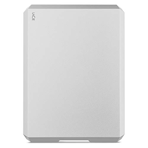 LaCie Mobile Drive 4To, Disque dur externe portable, Moon Silver, USB-C USB...