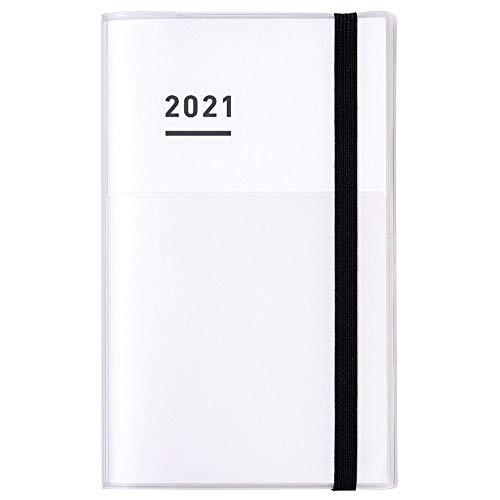 コクヨ ジブン手帳 mini ファーストキット 手帳 2021年 B6 スリム マンスリー&ウィークリー ホワイト ニ-JF...