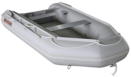 Saturn 12 ft Red Inflatable Sport Motor Boat Dinghy Raft Tender (Light Grey)