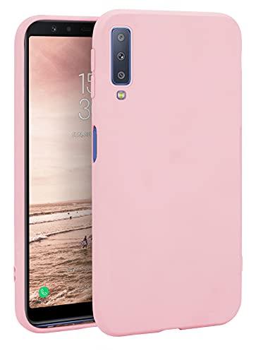 MyGadget Cover per Samsung Galaxy A7 (2018) - Custodia Protettiva in Silicone Morbido Matt  Case TPU Flessibile - Protezione Antiscivolo - Rosa Cipria