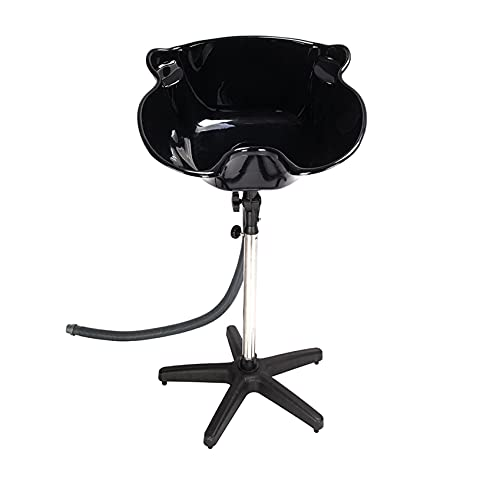 YC-210 Salon Removable Adjustable Shampoo Basin Black -...