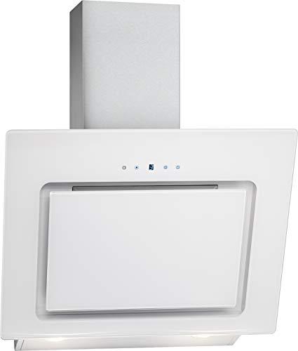 Bomann DU 771.1 G - Cappa aspirante verticale senza testa, 60 cm, display a LED, controllo touch, ricircolo o scarico, 3 livelli di potenza, 603 m/h, colore: Bianco