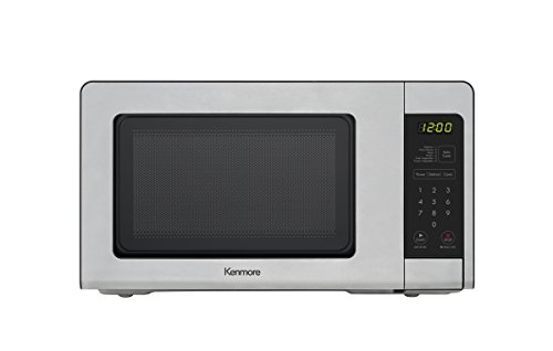 Kenmore Elite 70713 Countertop Microwave, 0.7 cu. ft, Stainless Steel