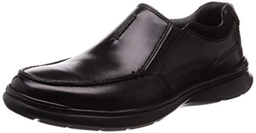 Clarks Cotrell Free, Mocasines Hombre, Negro (Black Smooth Leather), 44.5 EU