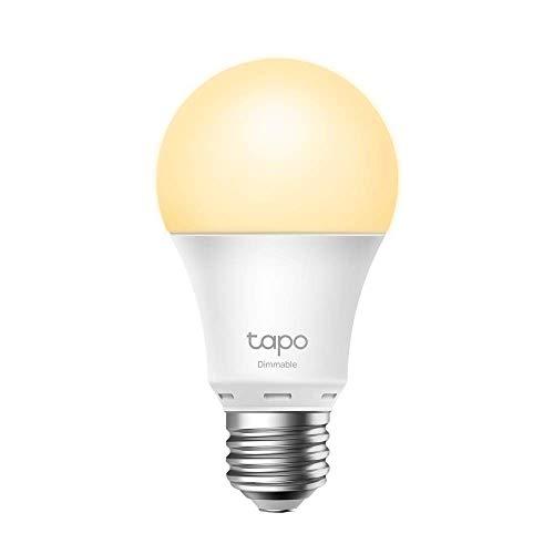 TP-Link -Bombilla LED Inteligente, Bombilla WiFi sin necesidad de Hub, Blanco Cálido,Regulable,E27, 8.7W 806lm, Compatible Alexa, Echo y Google Home, [Clase de eficiencia energética A+] (Tapo L510E)