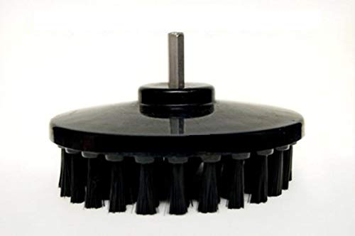 Buff King Plastic Cleaning Drill Brush - 5.25 Inches (Black)