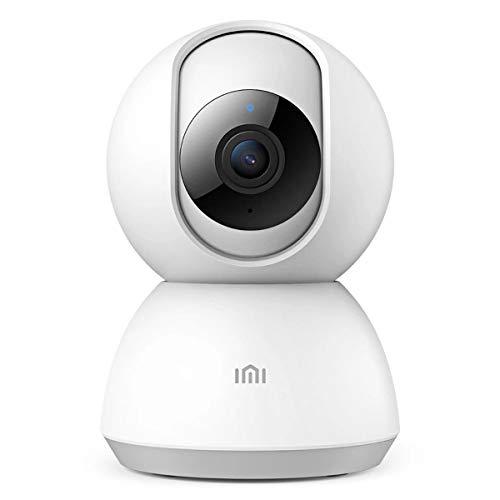 IMI 1080P HD Telecamera IP WIFI Interno Xiaomi Mi Home Videocamera di Sicurezza Senza Fili con Visione Notturna 360 ° Pan / Tilt Audio Bidirezionale Motion Dection per Bambini e Animali Domestici