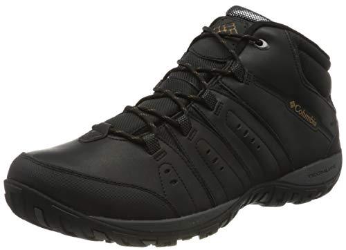 Columbia Woodburn II Chukka Waterproof Omni-Heat, Zapatos Hombre, Negro (Black, Goldenrod), 42.5 EU