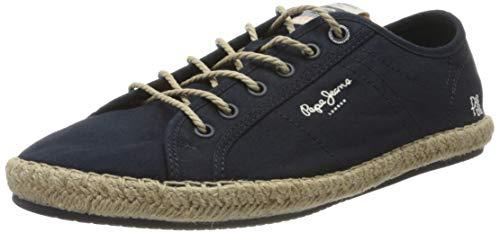Pepe Jeans Tourist Island, Sandalias con cuña Tipo Alpargatas Hombre, Azul Marino 595, 43 EU