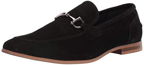 Steve Madden Men's DEBINAIR Loafer, Black Nubuck, 7.5 M US