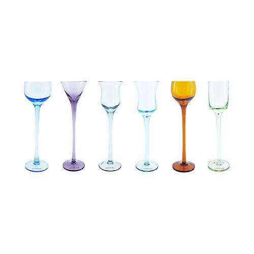 Cepriani Diversi Bicchieri per liquori, 0.03 Litri, Vetro soffiato