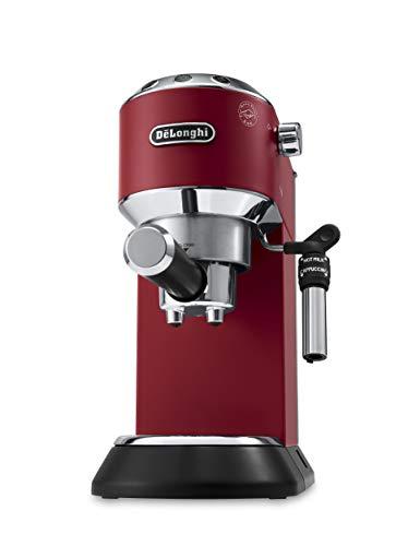 De'Longhi EC685.R Cappuccino/Macchina per caffè Espresso Manuale, 1350 W, 1 Liter, Plastica, Acciaio Inossidabile, Rosso