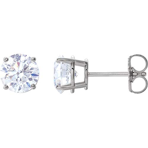 14k White Gold 2 CTW Diamond Stud Earrings Fine Jewelry for...