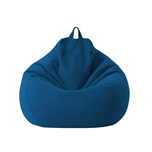 Fodere per sacco a sacco Sedia da gioco per bambini adulti Immagazzinaggio Sedia per divano pigro Fodera per sedia a sacco Fodera impermeabile Sedia per interni ed esterni (Blue, 100 * 120cm)