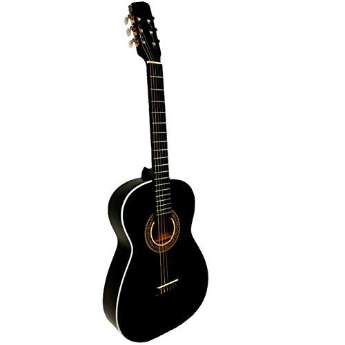 Paquete Guitarra Selecta Acustica Negra Todo Incluido!!