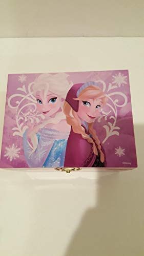 Disney Frozen Winter Wishes Wind Up Music Box with Elsa and Anna
