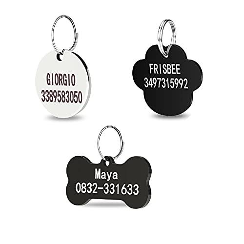 Etiquetas de identificación para mascotas de acero inoxidable ,...