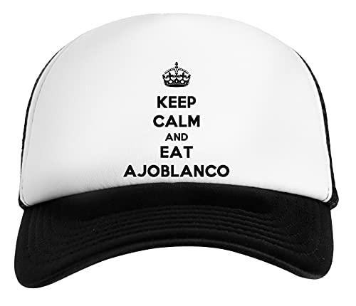 Keep Calm and Eat Ajoblanco Gorra De Béisbol Unisex Niños