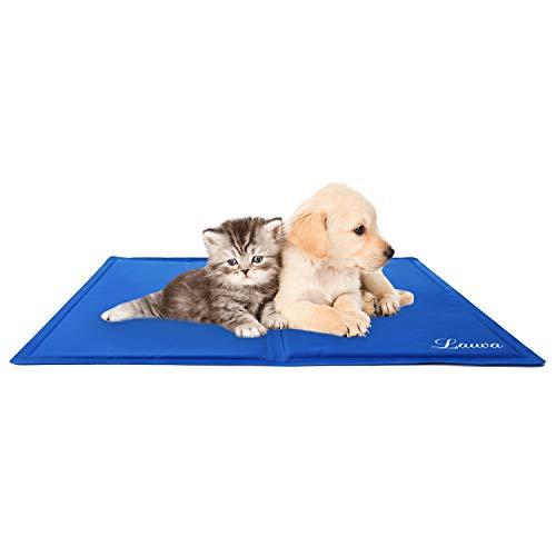 Lauva Tappetino Rinfrescante per Animali Tappeto in Gel Autorinfrescante Giaciglio Rinfrescante per Cani, Gatti e Animali Domestici 50 X 40 cm