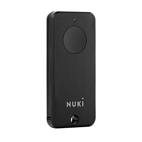 Nuki Fob, elektrischer Türöffner, Sperren auf Knopfdruck, Erweiterung für Nuki Smart Lock 2.0, elektronisches Türschloss, automatischer Türöffner, Bluetooth Schlüsselanhänger, Nuki Smart Home