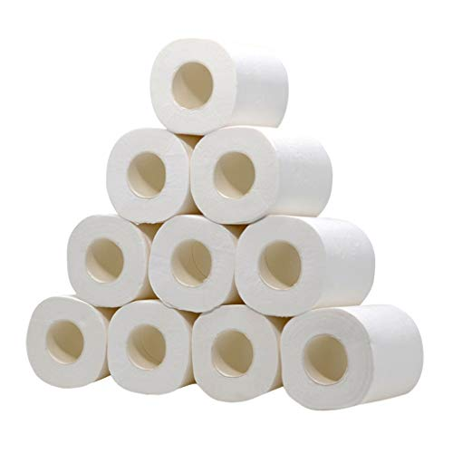 KANGMOON 10 x Centrefeed Dispenser White Rolls 2 Ply Embossed Paper Hand Towel Tissue Gym Wall Mounted Lockable Rolls