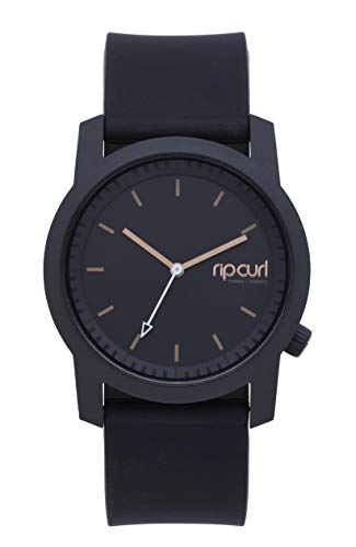 Rip Curl Women's Cambridge Quartz Sport Watch with Silicone Strap, Black, 22 (Model: A2966GBLK1SZ)