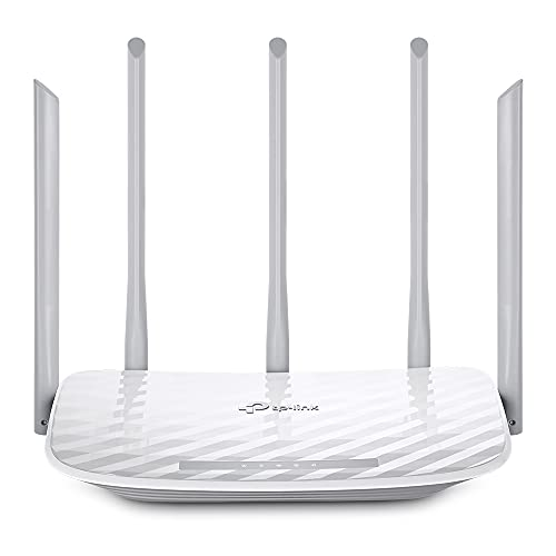 TP-Link Archer C60 AC1350 Dual Band Wireless, Wi-Fi Speed Up to 867 Mbps/5 GHz + 300 Mbps/2.4 GHz, Supports Parental Control, Guest WiFi, MU-MIMO Router, Qualcomm Chipset
