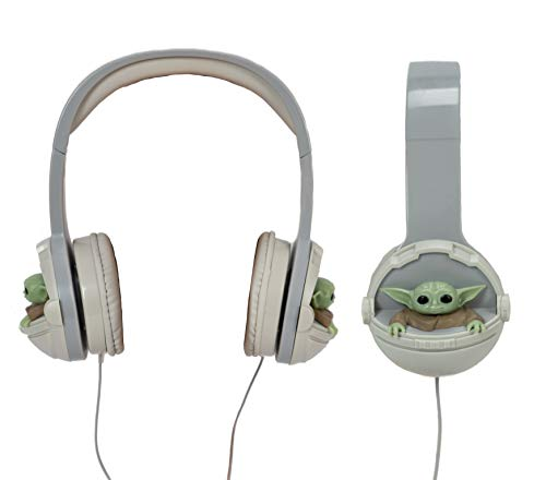 Star Wars The Mandalorian The Child - Baby Yoda Kids Headphones Wired Fully Padded and Adjustable Headband