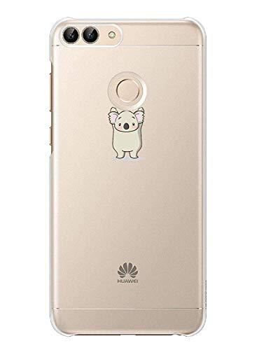 Fantasyqi Compatible para Huawei P Smart 2018/Enjoy 7S Funda Delgado y Ligero TPU Gel Transparente Silicona Suave Bumper Anti-cero a prueba de choques Con estilo y Durable Caso(Koala)