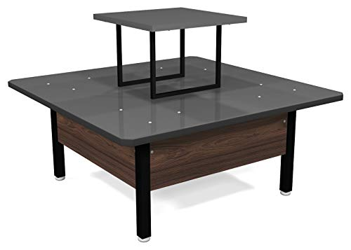 Exhibitor Products Table Platform Mutt Disassembled Wood (Dark)