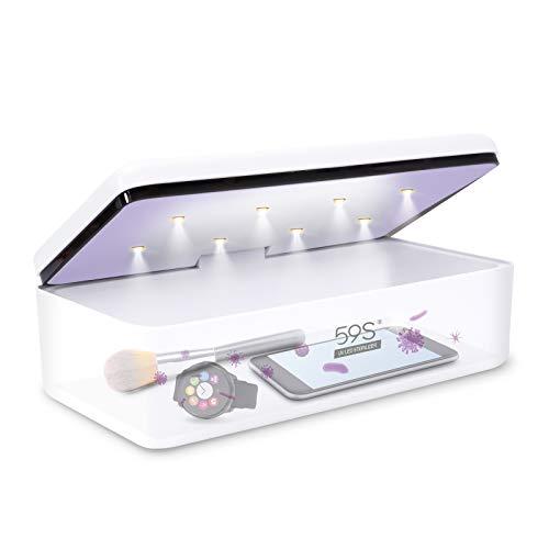 Esterilizador UV, 59S UV Esterilizador Caja LED con 8 Bolas...
