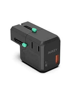AUKEY USB C Chargeur 18 W,Chargeur de Voyage de 2 Puertos avec Power Delivery 3.0 pour iPhone 12/12 Pro / 12 Pro Max / 11/11 Pro / 11 Pro Max/XR/XS/X, Galaxy S10, Pixel 3/2 iPad Pro etc.