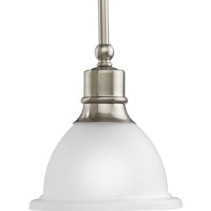 Progress Lighting P5078-09 Pendants, 7-1/2-Inch Diameter x 8-Inch Height, Brushed Nickel