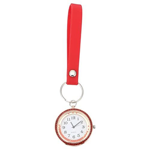 PRETYZOOM Enfermera Fob Watch Colgando Pecho Colgante Reloj Rhinestone Bolsillo Insignia Túnica Stethoscope Reloj para Médico Enfermera Examen de Estudiante Regalo de Graduación de Navidad