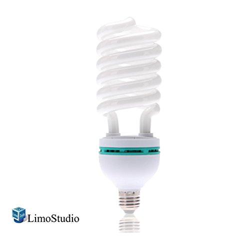 LimoStudio 45 Watt, 6500K Fluorescent Daylight Balanced Light Bulb for Photography and Video Lighting, AGG1758