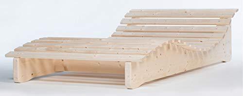 TUGA - Holztech Naturholz Massive wetterfeste extrem stabile stehende Liege Relaxliege Massivholzliege Liege Formliege LIEGELÄNGE ca. 205cm 90cm Breite Himmelsliege