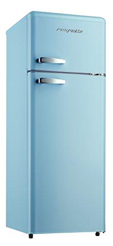Respekta, frigorifero combinato in stile retro con congelatore, 146 kg, colore Azzurro, a ++