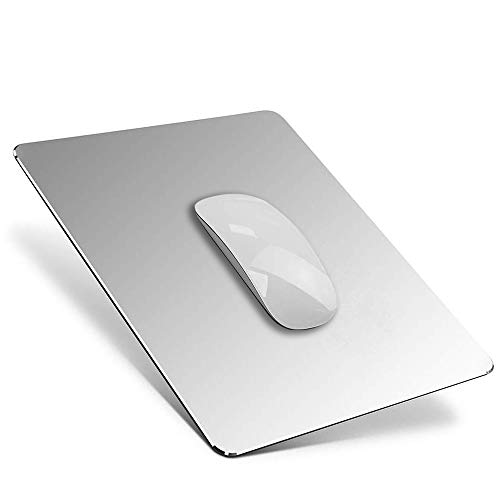 YiYunTE Alfombrilla de Ratón Aluminio Gaming PC Alfombrilla para Ratón Metalica Mouse Pad con Base...