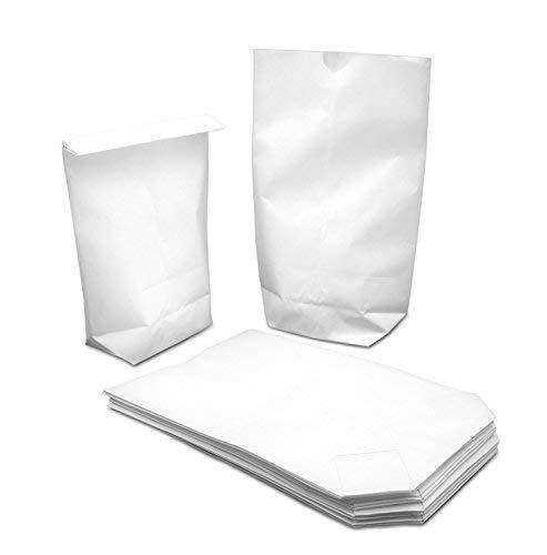 50 weiße Kraftpapier-Tüten (17x26cm) mit Kreuzboden – Gerne verwendet für Weihnachten,...