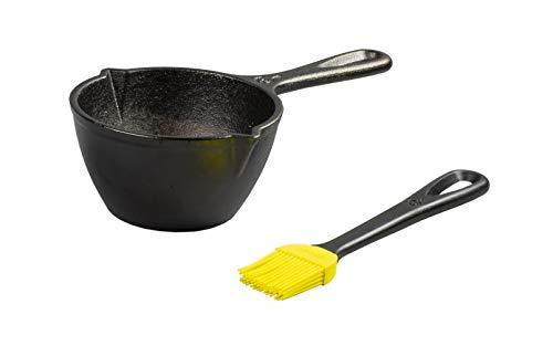 Lodge LMPB21 - Pentola in ghisa con spazzola in silicone, colore: Nero